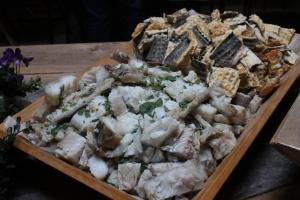 Harðfiskur (dried fish) and siginn fiskur (fermented fish).