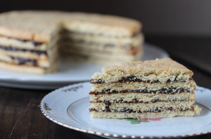 Vínarterta - layered cake with prune compote